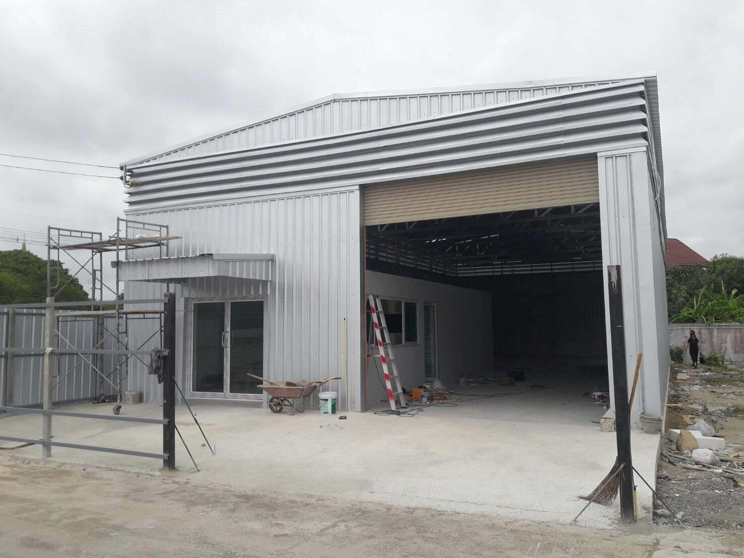 โกดังสำเร็จรูป โครงสร้าง HW-C ขนาด 10 x 22 x 5 เมตร รับสร้างโกดัง - รับสร้างโกดัง โรงงาน สร้างคลังสินค้า